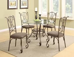 Metal Top Dining Room Table 120851 120852 Brown Metal And Wood Dining Table Set In Los Angeles