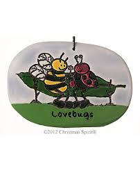 personalized bee u0026 ladybug love bugs christmas ornaments