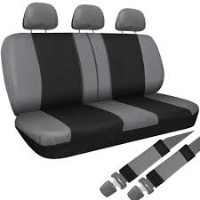 14 piece universal car seat covers with head rest steering wheel
