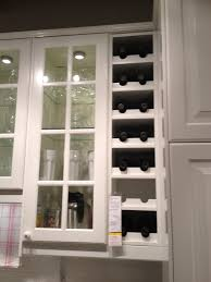 kitchen wine rack ideas wall mount white wood opened built in wine rack with white wood