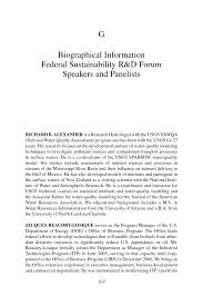 appendix g biographical information federal sustainability r u0026d