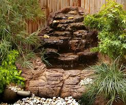 Backyard Waterfall Ideas by Small Backyard Corner Pond Waterfalls Kits U0026 Artificial Rocks