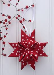 folded fabric star here comes santa claus pinterest fabrics