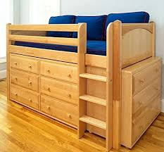 Bunk Beds With Dresser Underneath Low Loft Bed In Finish With Six Three