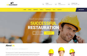 templates bootstrap html5 bizconstruct construction business bootstrap html5 template