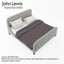 John Lewis White Bedroom Furniture Sets John Lewis Kingsley High End Bed 3d Cgtrader