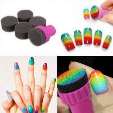 1 99 5pcs mini round sponge stamp for gradient nail art