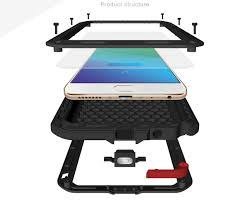 Desk Defender Love Mei Powerful Metal With Silicone Defender Cover For Oppo R9 Plus