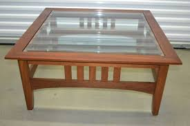 ethan allen glass coffee table ethan allen american impressions mission cherry glass coffee table