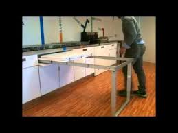 meuble cuisine avec table escamotable découvrez notre ferrure de table de cuisine repliable accessoires