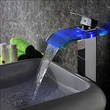 design badarmaturen design badarmaturen wasserfall led blau mit keramik kartuschentechnik