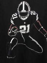 Dallas Cowboys American Flag Nike Ezekiel Elliott Dallas Cowboys Zeke Silhouette Black T Shirt