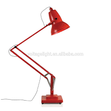 modern decorative giant metal standing lamp red black white color