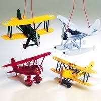 wooden airplane ornaments aviation ornaments kurt adler