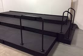 home theater riser featherblock portable non resonating stages and risers