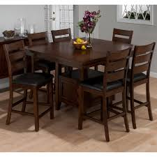 bar height dining room sets jofran taylor cherry 7 piece counter height dining table set