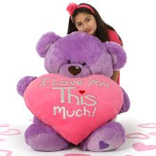 big valentines day 42in purple s day teddy with plush i