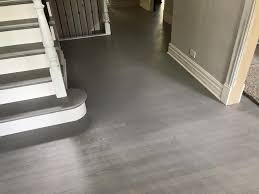 Laminate Flooring Stairs Hinsdale Gray Color Hardwood Floor And Stairs Final Look Tom