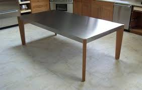 Stainless Steel Kitchen Table Top Painting Table Legs Stainless Kitchen Table Stainless Steel