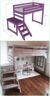 Loft Bed Plans Free Dorm by Best 25 Loft Bed Diy Plans Ideas On Pinterest Bunk Bed Plans