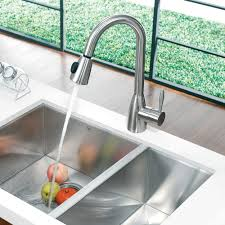 vigo industries vg02014st single lever pull down faucet with dual