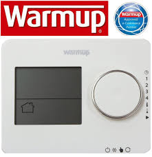 warmup tempo digital thermostat porcelain white for underfloor