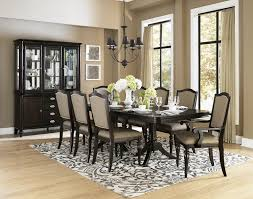 home design 12 seat dining table with gold leaf accented double