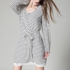 robe de chambre femme coton peignoir noir et blanc en coton pour femme peignoir robe de