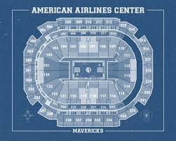 American Airlines Floor Plan Vintage Print Of American Airlines Center Seating Chart On Premium