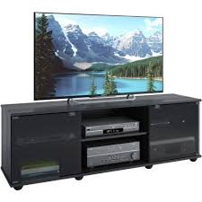 entertainment centers with glass doors corliving fiji tv bench for tvs up to 64