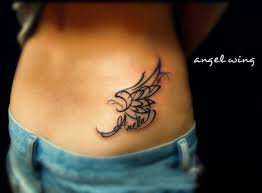 small wing tattoos for women totem type abstract angel wing