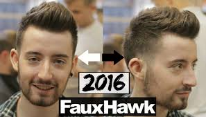 new men u0027s faux hawk hairstyle u0026 haircut 2017 youtube