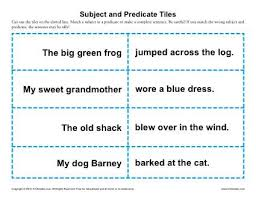 subject and predicate tiles subject and predicate worksheets