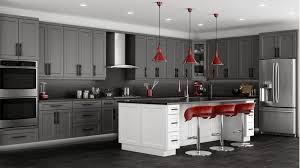 Gray Kitchen Cabinets With White Countertops Ideas EVA Furniture - Gray kitchen cabinet