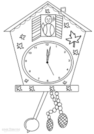 coloring pages for kids clock coloring pages for kids inside clock