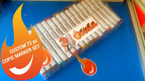 how to order a custom 72 piece copic sketch marker set from