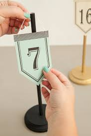 Diy Table Number Holders Diy Hanging Table Number Stands Bridalpulse