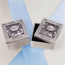 baby silver gifts baby curl and tooth silver box set engraved baby gifts