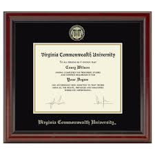 diploma frame official virginia commonwealth diploma frame the