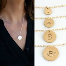 monogram initial necklace gold gold disc necklace monogram necklace gold sted initial