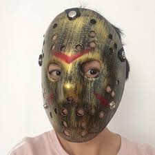 Jason Voorhees Halloween Costume Style Jason Mask Antique Gold Face Party Masks Jason