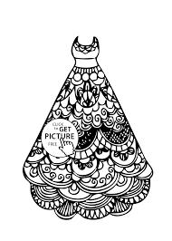 cool dresses girls coloring printable free dress coloring