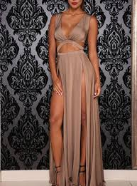 sexi maxi dress glamorous maxi dress slits bra style bodice