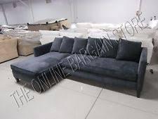 Grey Velvet Sectional Sofa Velvet Sectional Sofas Loveseats Chaises Ebay