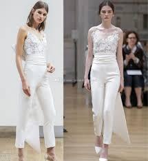 Wedding Dress Jumpsuit Jumpsuit Wedding Dresses 2018 Oscar De La Renta Bridal Strapless