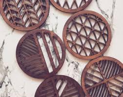 wooden coasters etsy