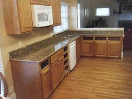 bathroom minimalist kitchen design with oak kitchen cabinets and