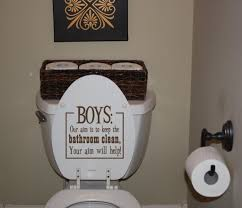 little boy bathroom ideas lol you can uppercase anything http tamarabennett