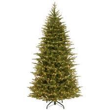 slim pre lit trees artificial trees the