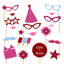 printable girly photo booth props american girl doll themed photo booth props printable instant